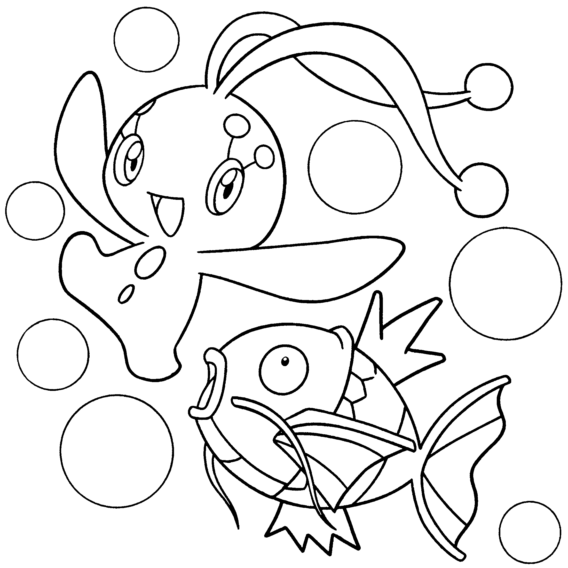 Coloring Page Pokemon Diamond Pearl Coloring Pages adult | 2200x2200