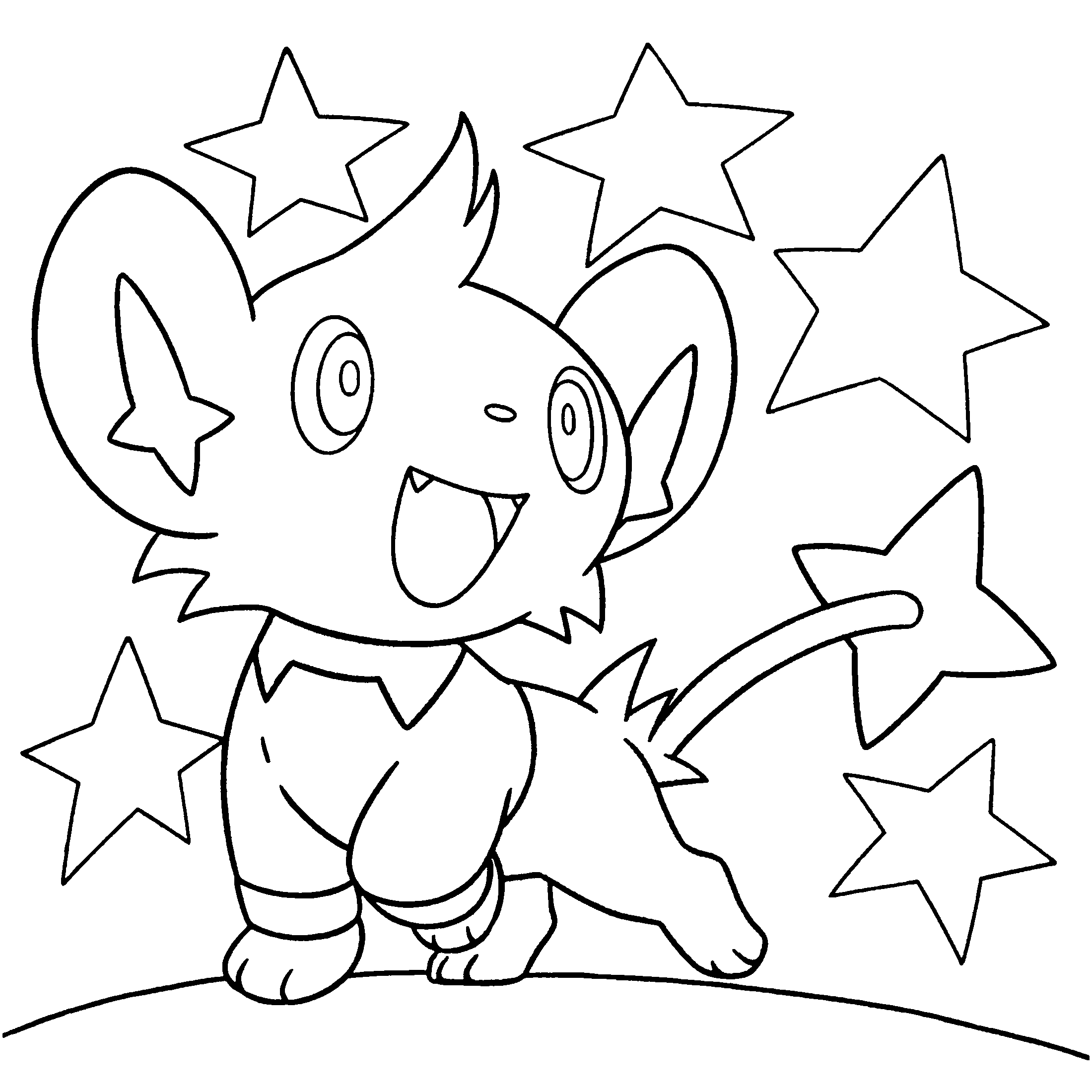 pokemon luxio coloring pages - photo#35