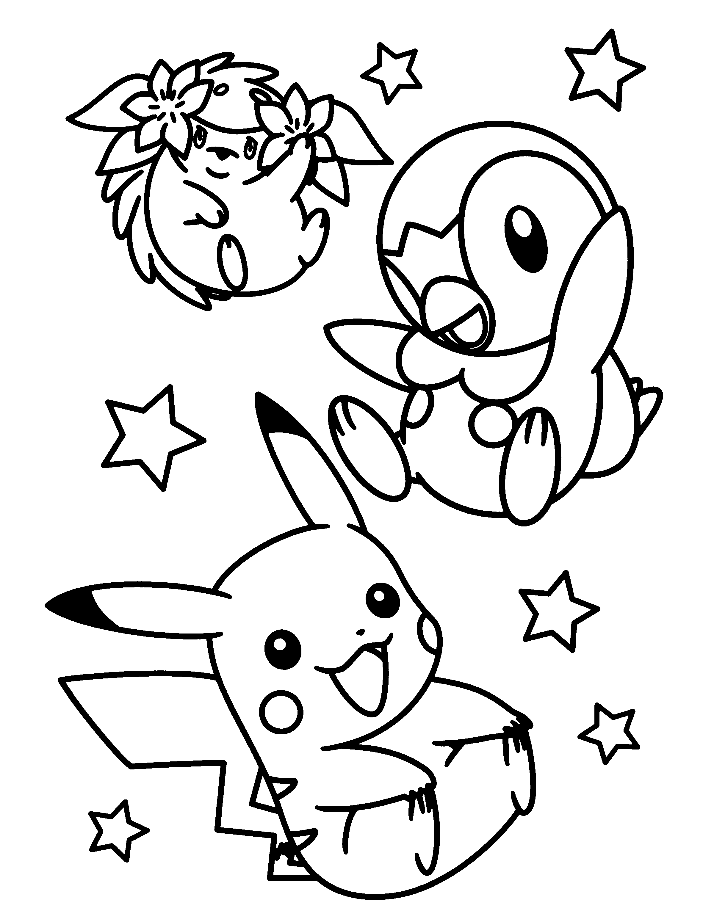 pakemon diamond pearl coloring pages - photo #4