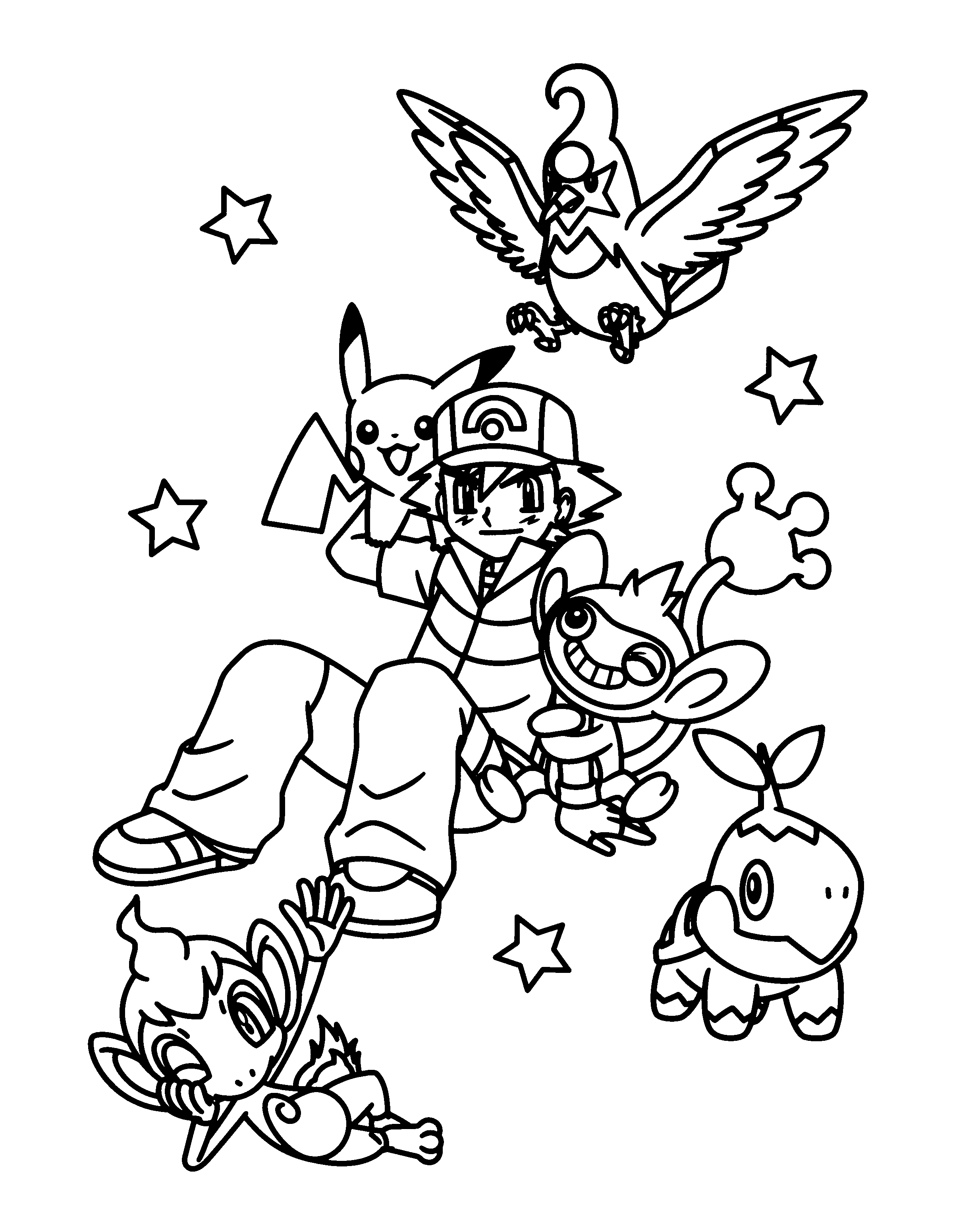 Coloring Page Pokemon diamond