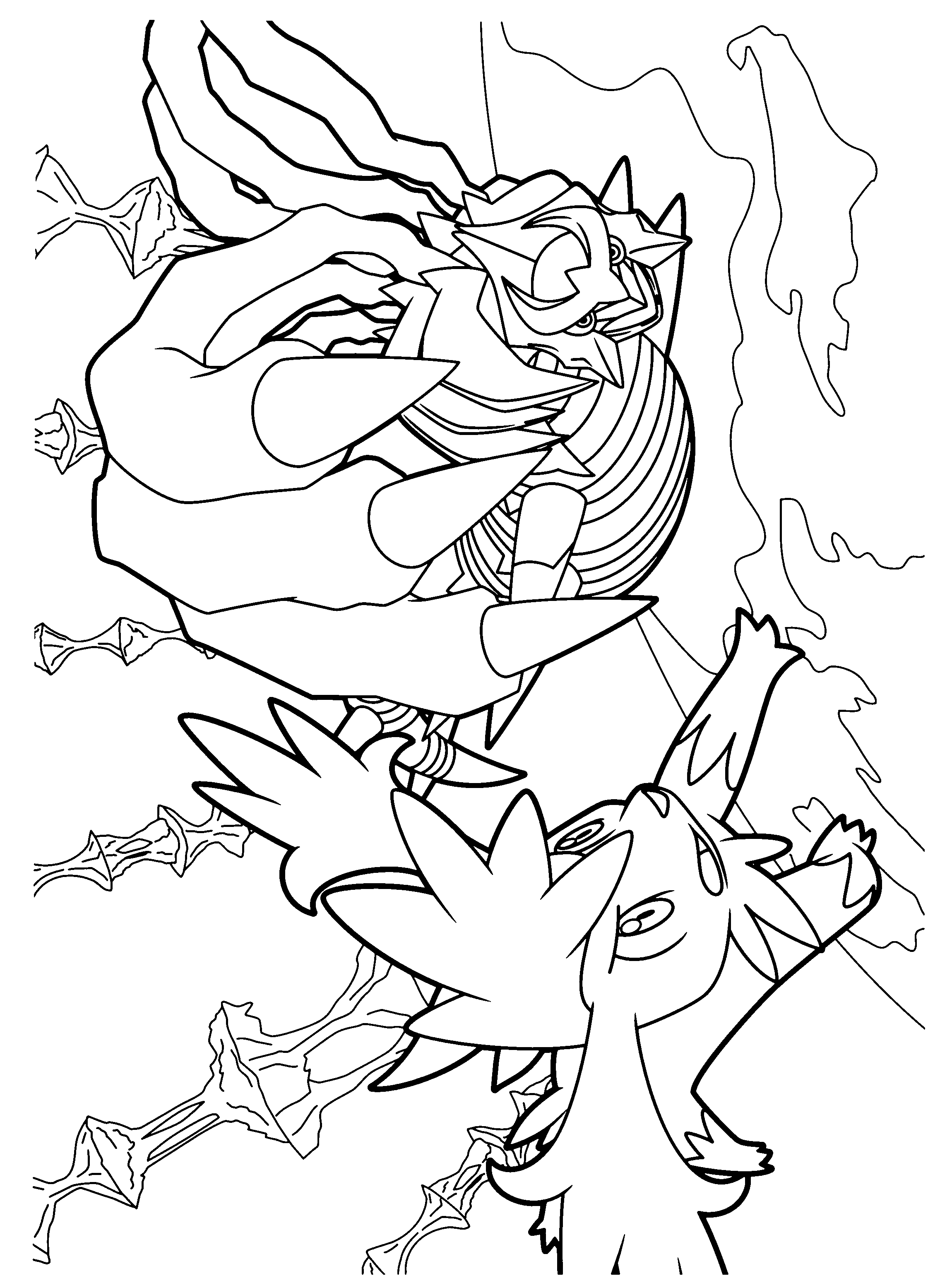 Pokemon coloring pages magnezone - Pokemon Diamond Pearl Coloring Pages