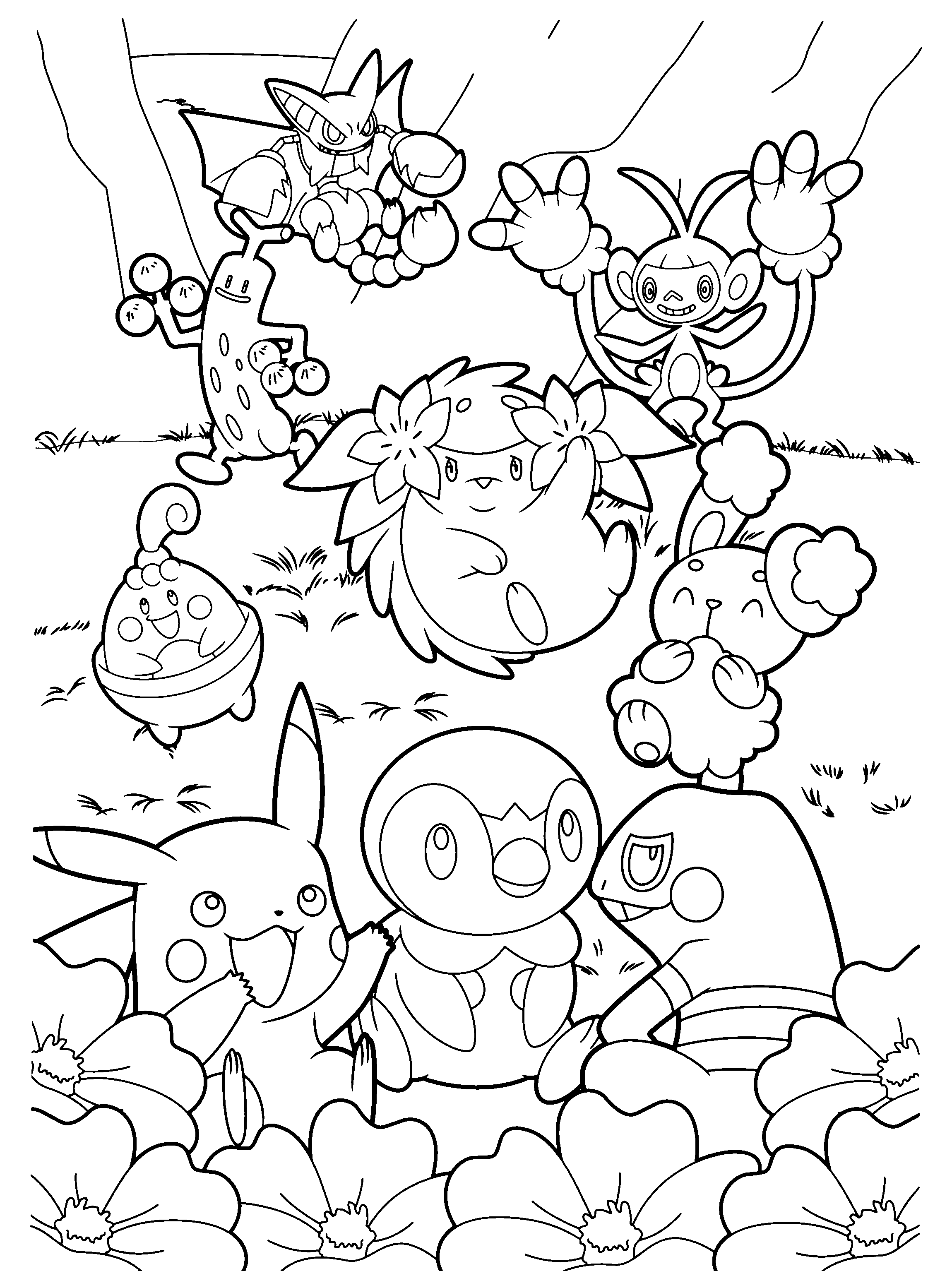 pakemon diamond pearl coloring pages - photo#30