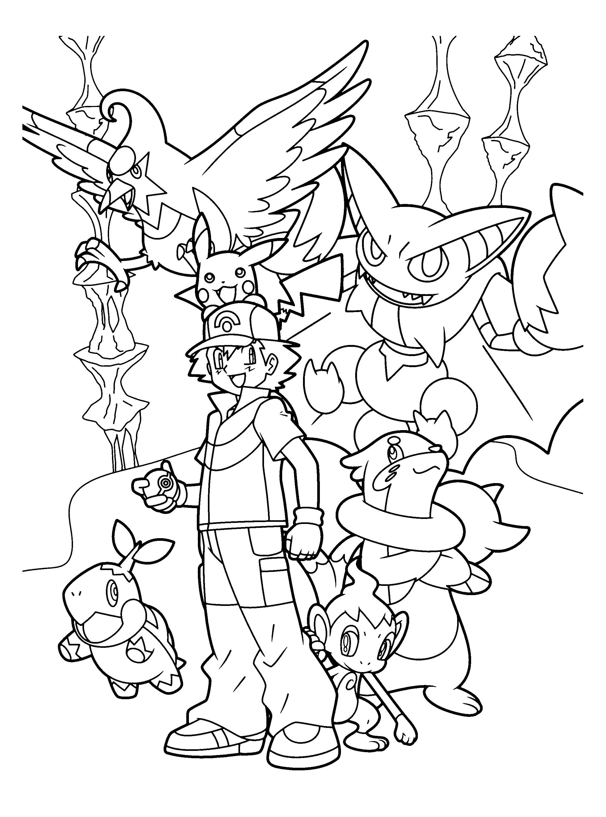 pakemon diamond pearl coloring pages - photo#44