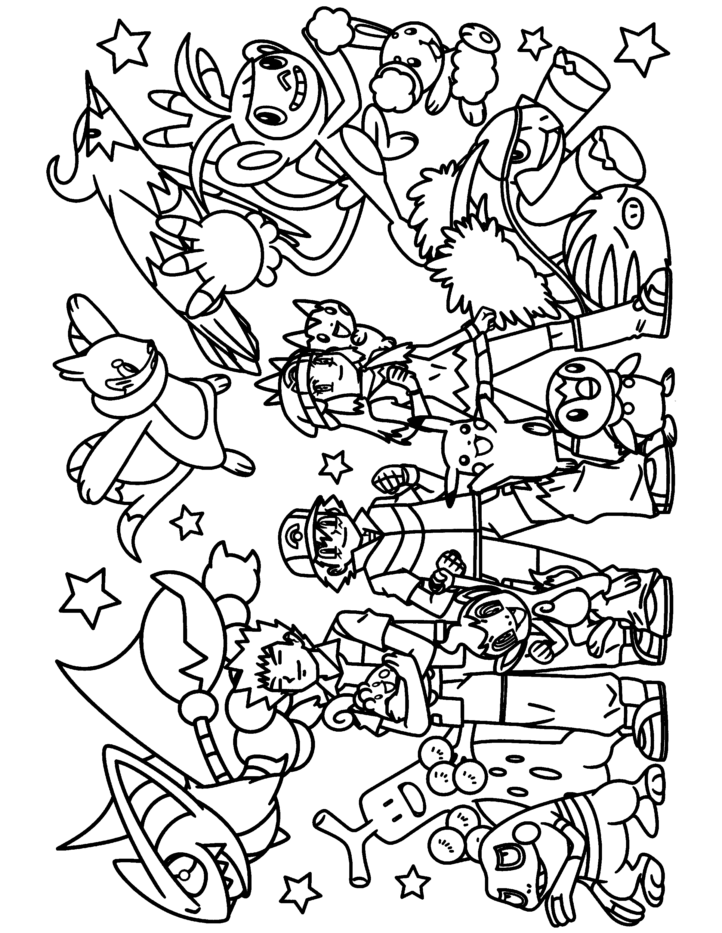 pakemon diamond pearl coloring pages - photo #9
