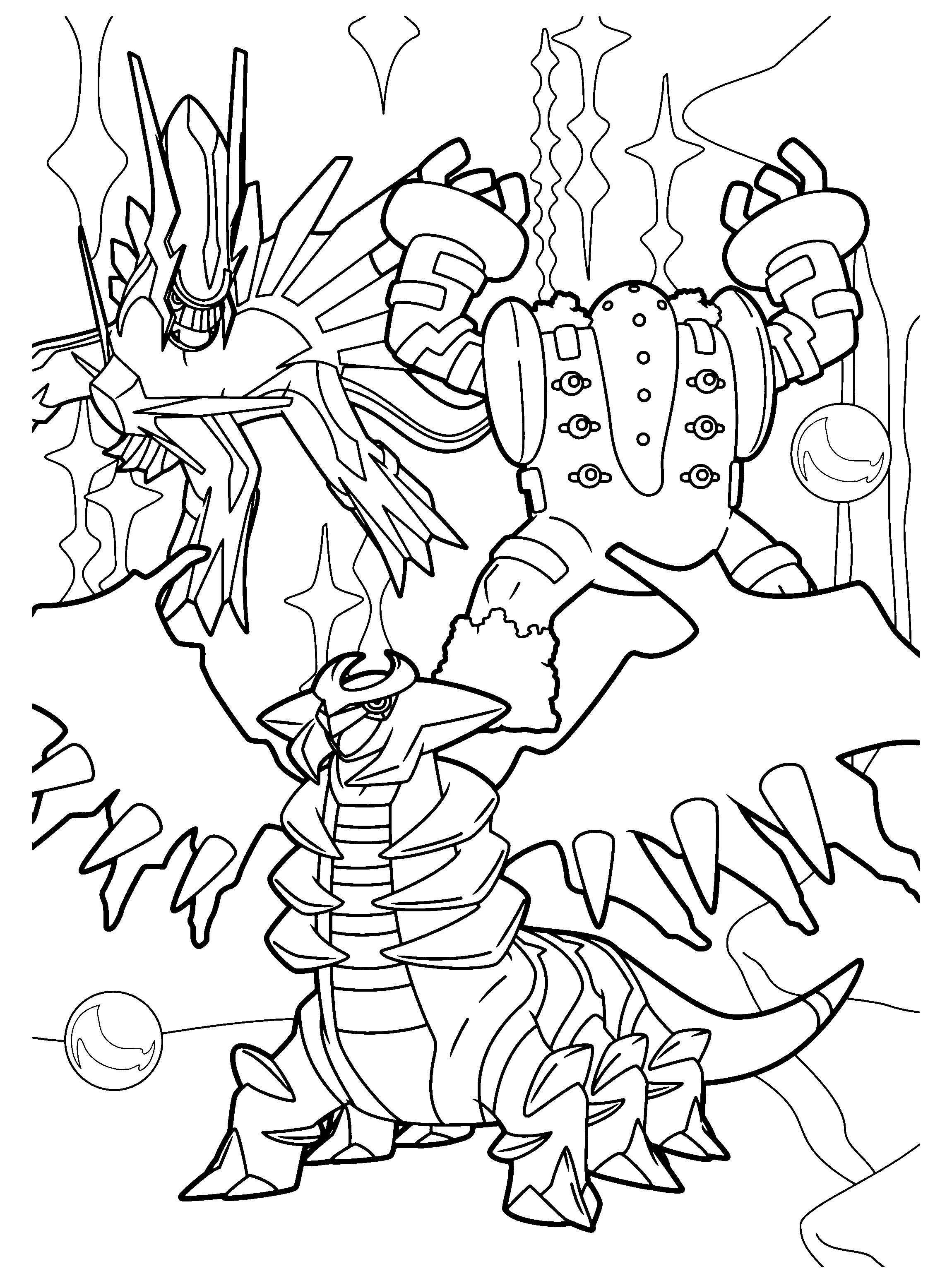 Pokemon Ausmalbilder Giratina : 100 Pokemon Coloring Pages Giratina Yu Gi Oh Coloring Pages