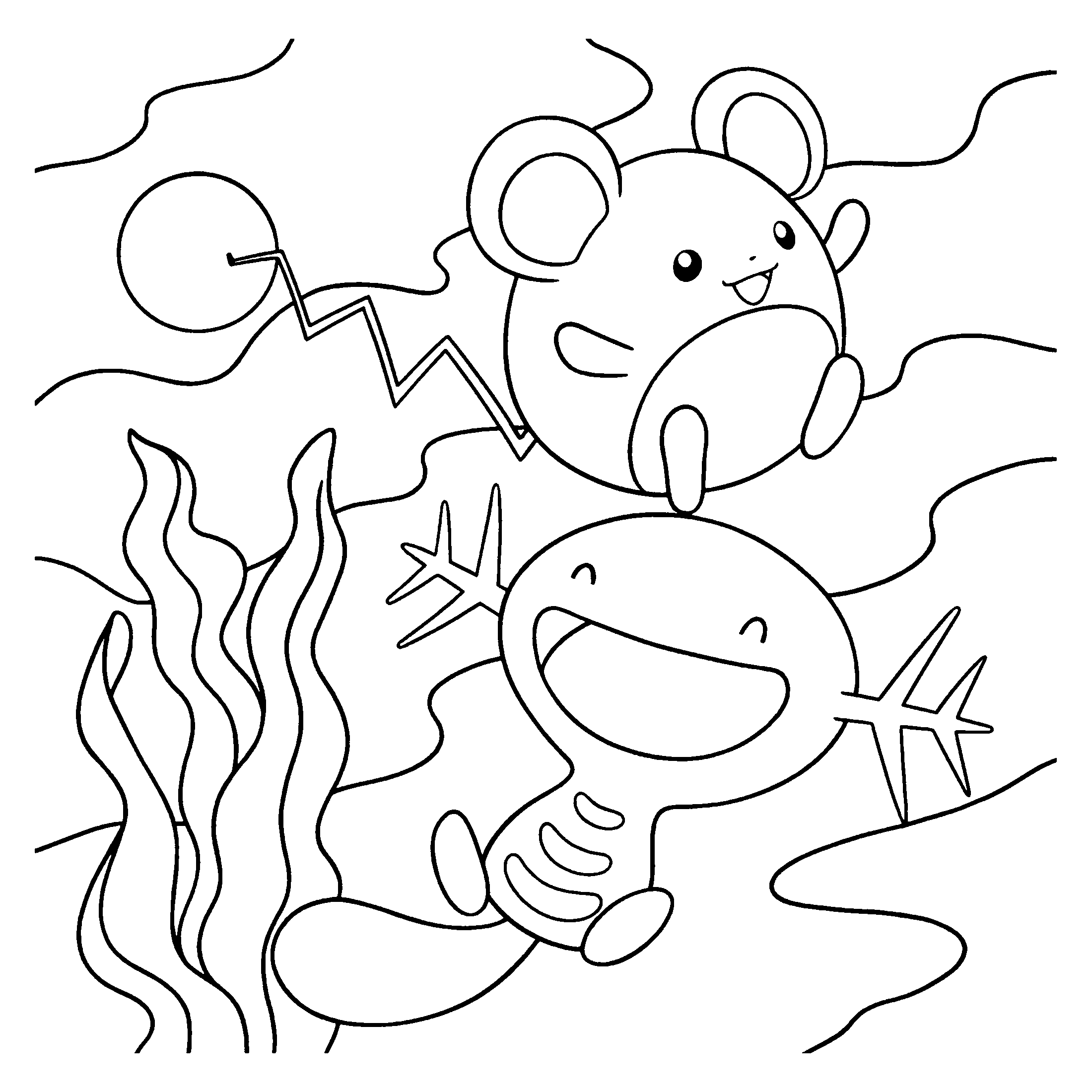 pakemon diamond pearl coloring pages - photo#4