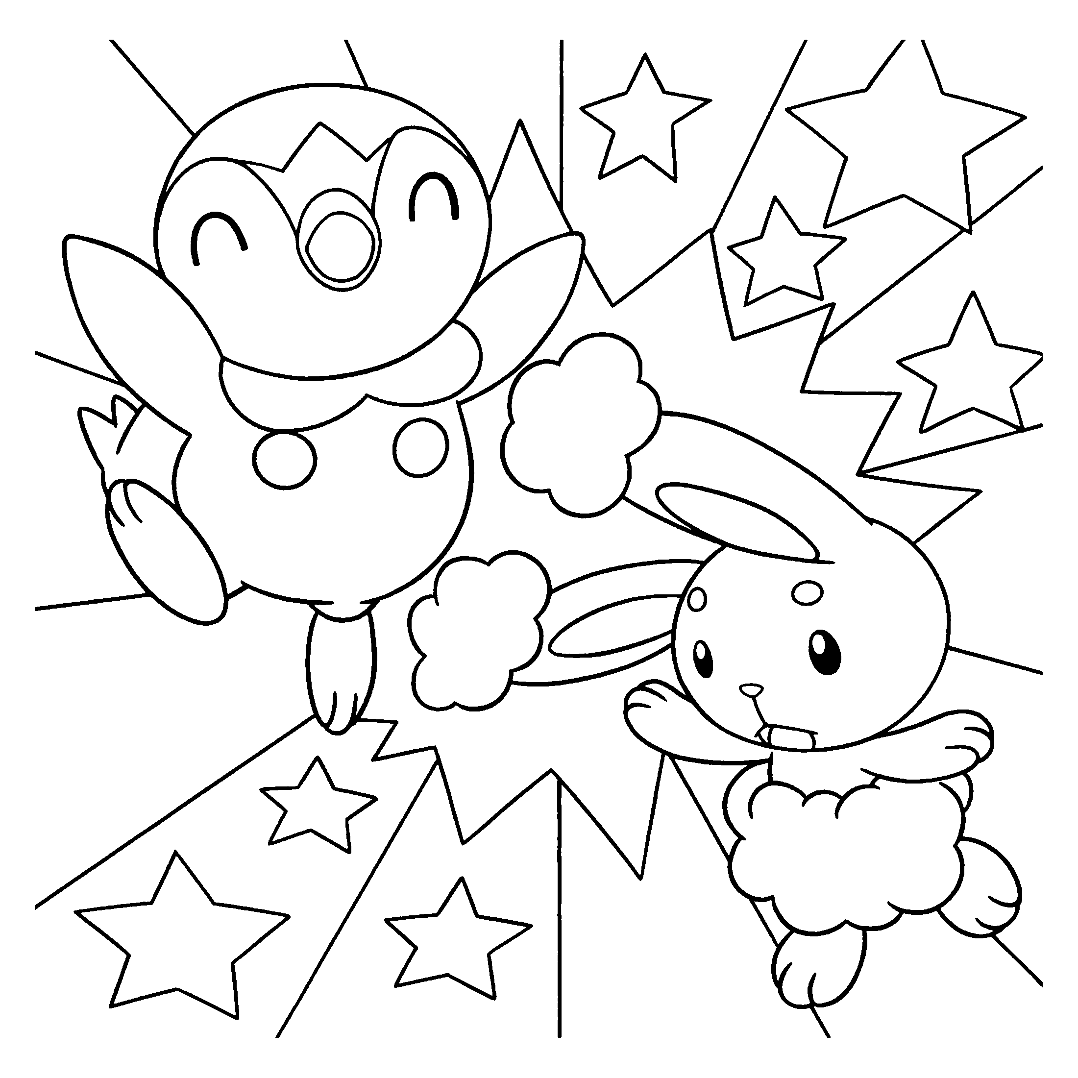 pokemon buneary coloring page - coloring page tv series coloring page pokemon diamond