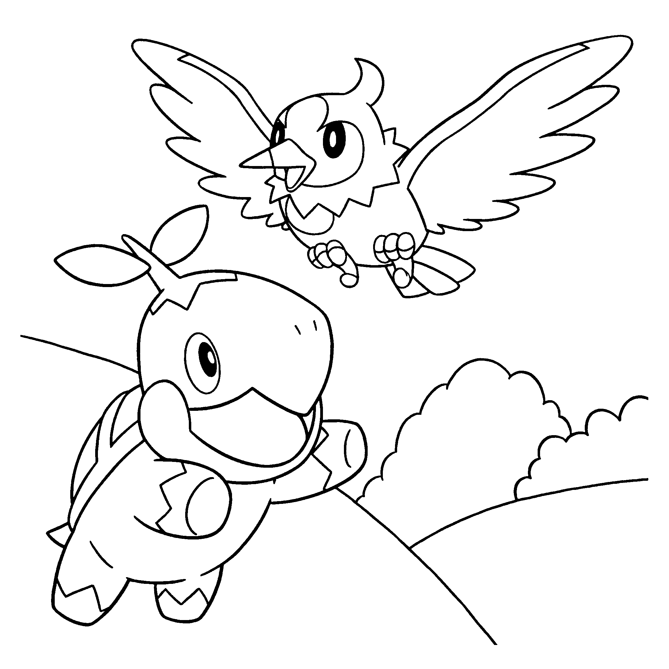 Coloring Page Pokemon Diamond Pearl Coloring Pages 97