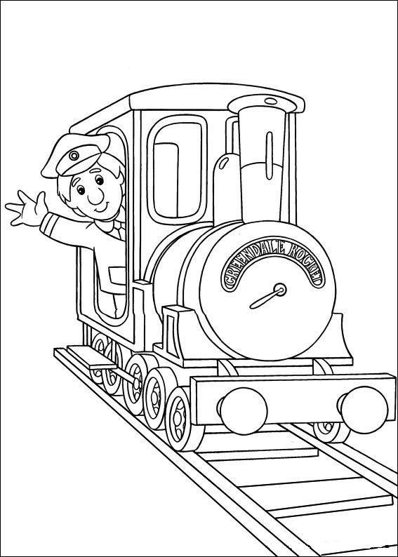 Postman pat coloring pages