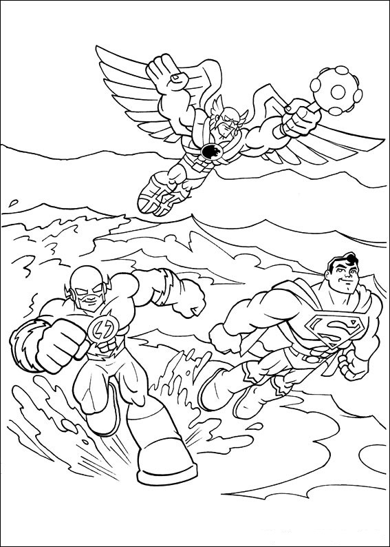 Superfriends coloring pages
