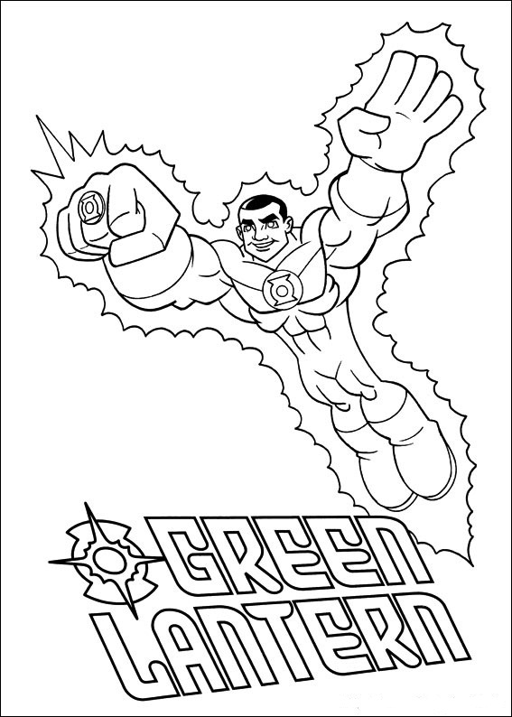 Coloring Page - Superfriends coloring pages 20
