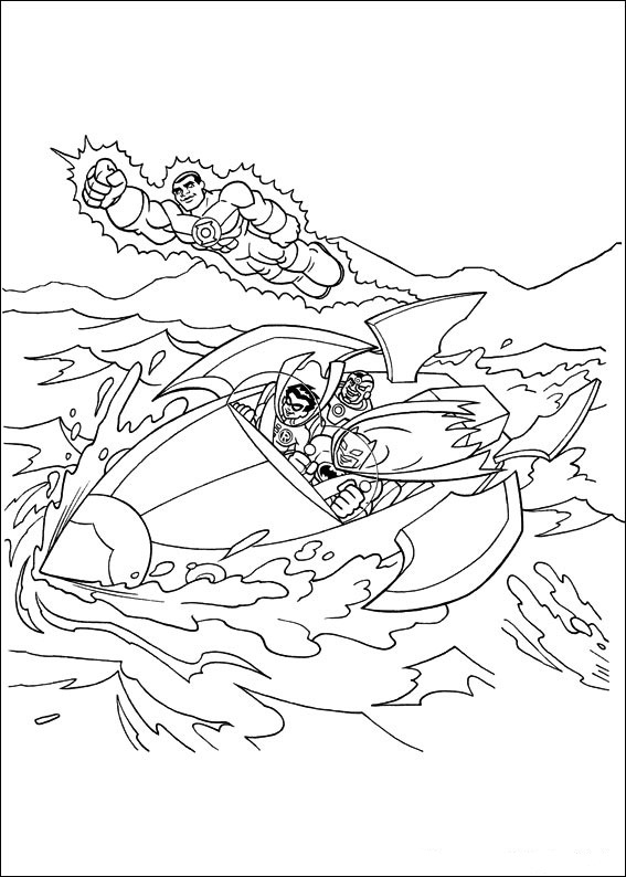 Coloring Page Tv Series Coloring Page Superfriends | PicGifs.com