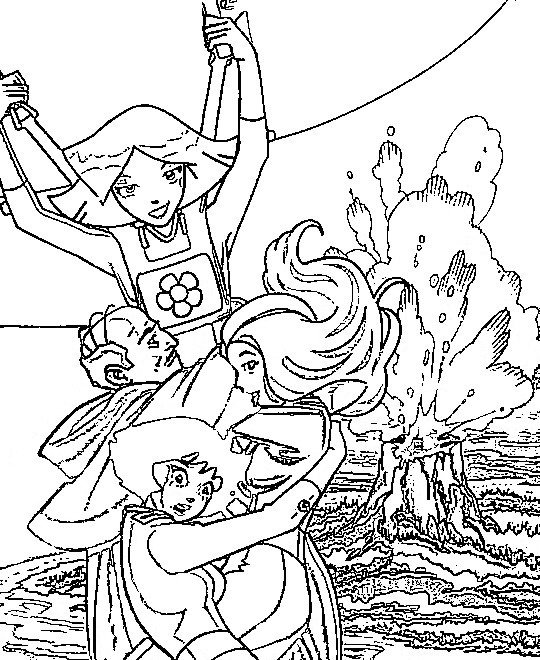 Totally Spies! coloring pages - Coloring pages for kids - Cartoon