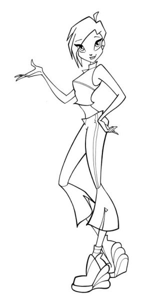 Winx Coloring Page Tv Series Coloring Page Picgifs Com