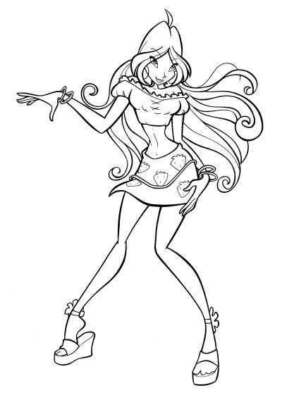 Winx Coloring Page Tv Series Coloring Page PicGifscom