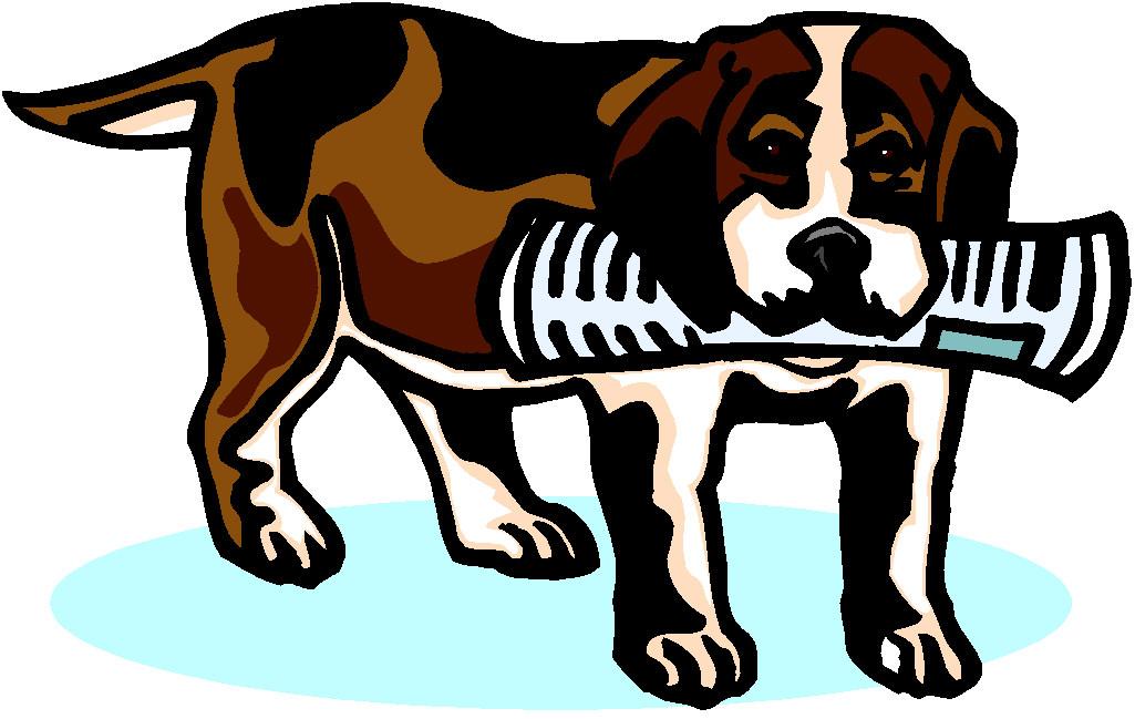 Dog bringing newspaper dog graphics