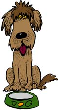 Dog food dog graphics