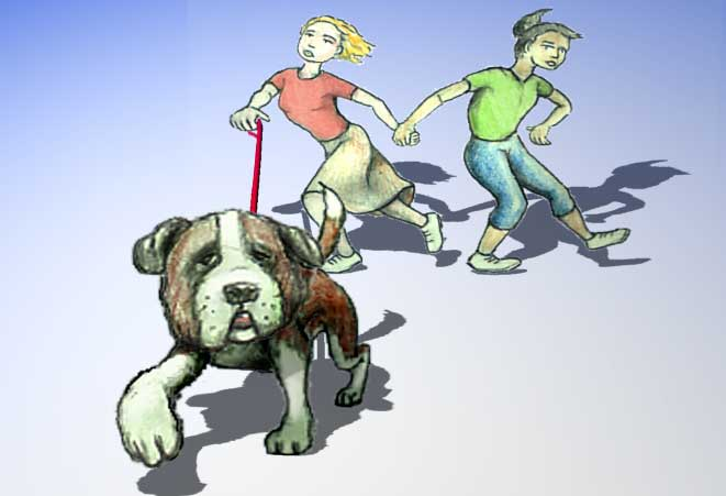 Walking the dog dog graphics