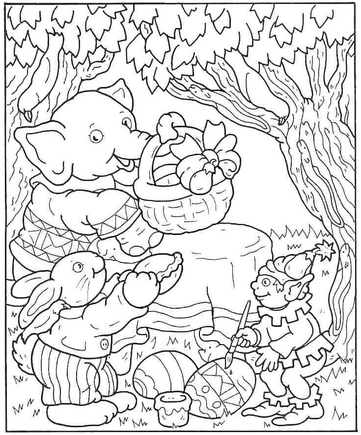 Colouring pictures easter graphics