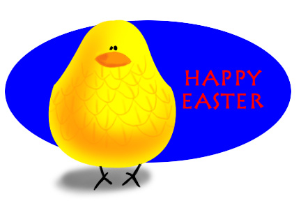 Text easter graphics