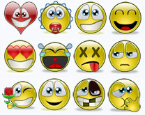 Multiple smileys emoticons