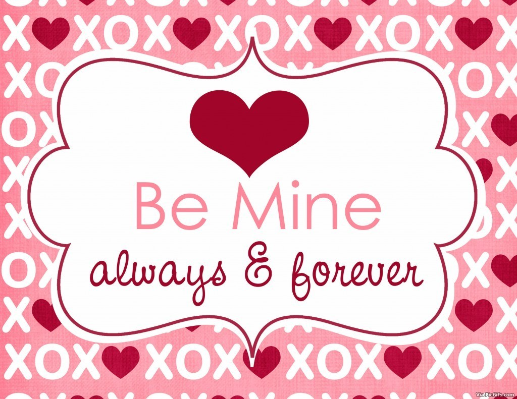 Facebook graphics Be mine valentine