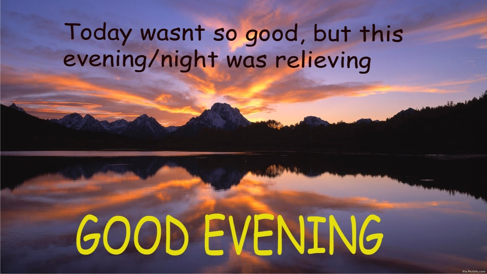 Good evening Facebook graphics