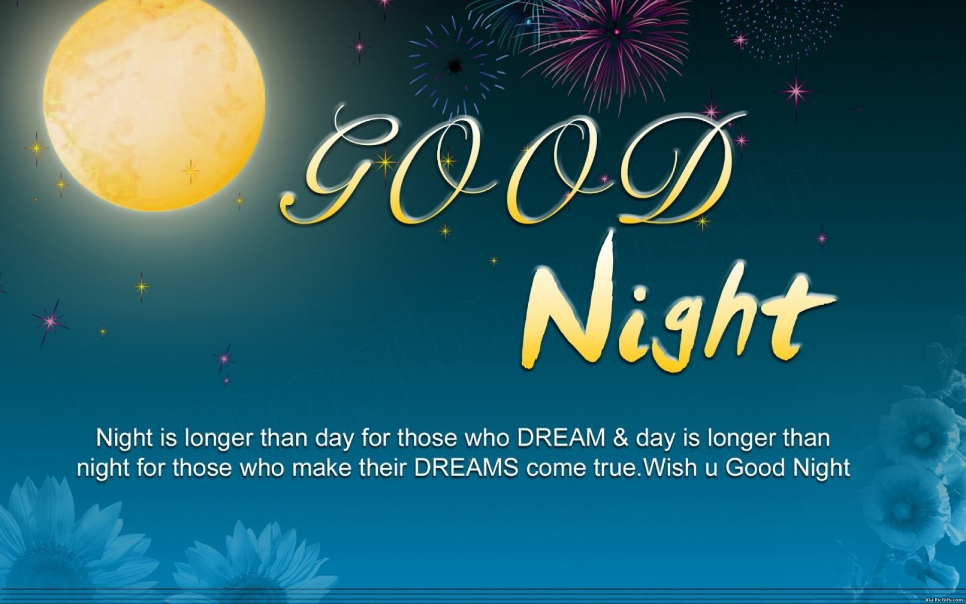 Good night Facebook graphics