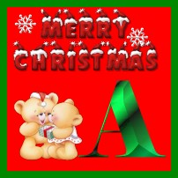 Christmas alphabet graphics