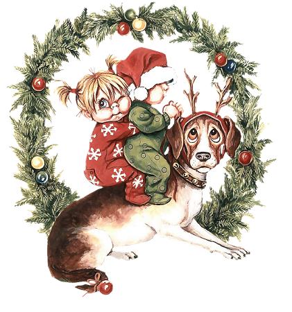 Christmas children graphics