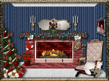 Christmas fireplace graphics