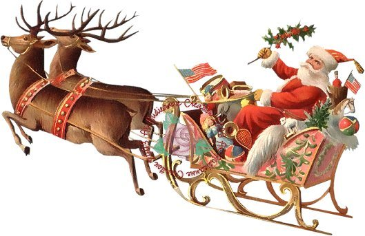 Christmas sleigh graphics