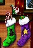 Christmas socks graphics