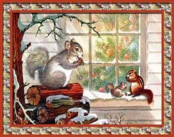 Graphics Christmas window
