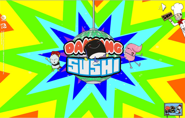 Dancing sushi graphics