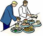 Restaurant dinner graphics