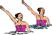 Synchronized swimming graphics