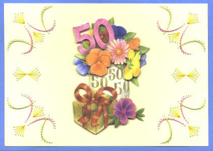 Graphics Wedding anniversary 50th