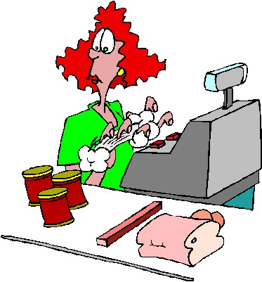 Cashier job graphics