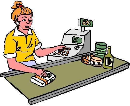 Cashier job graphics