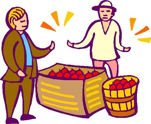 Market traders job graphics