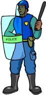 Police officer job graphics