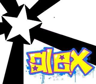 Alex name graphics