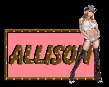 Allison name graphics