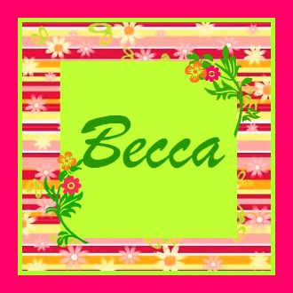 Becca name graphics