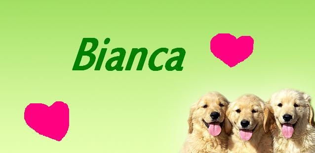 Bianca Name graphics