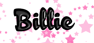 Name graphics Billie