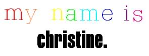 Name graphics Christine