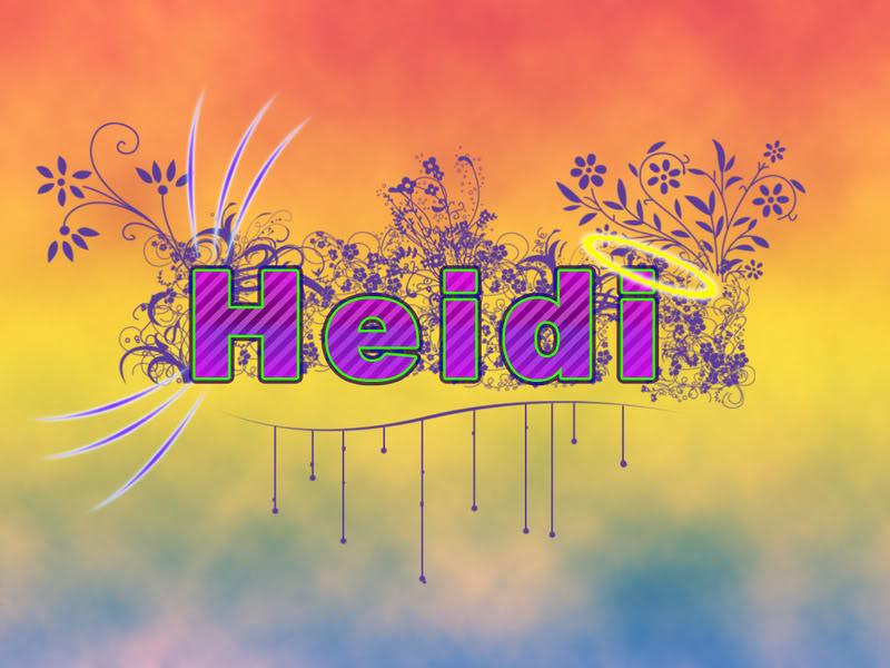 Heidi name graphics