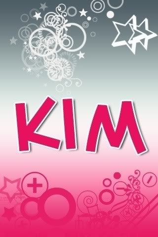 Kim name graphics